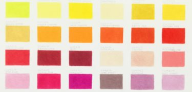 Colour charts and lightfastness rating