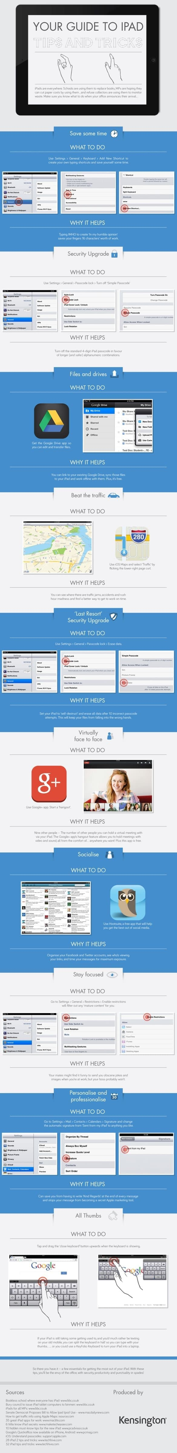 infographic image - essential tips and tricks for getting the most out of your iPad.